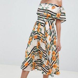 Asos Soft Bandeau Midi Dress.